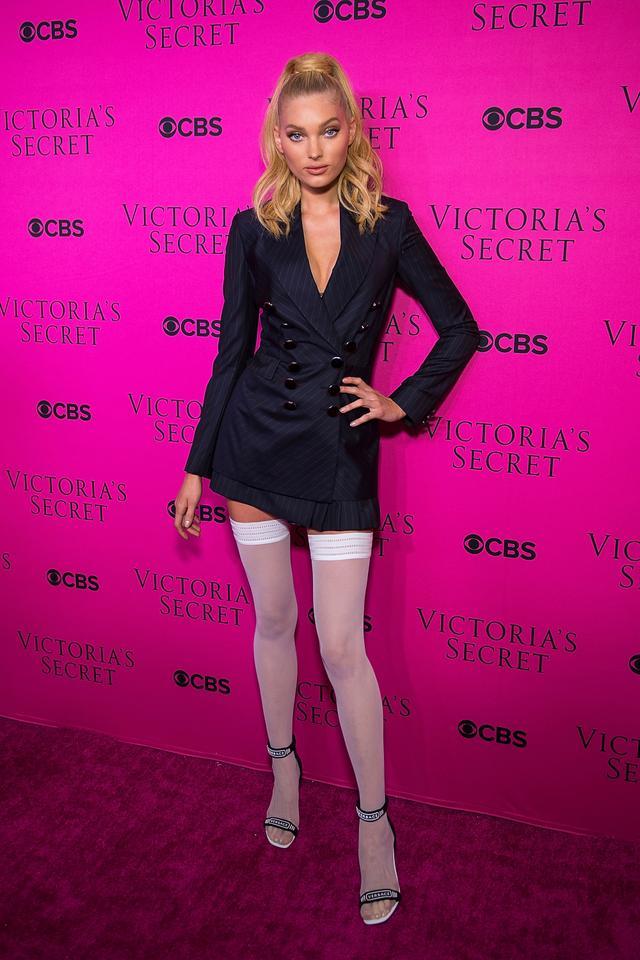 Vs X Balmain >> Bella Hadid's Daring Latex Dress at the VS Viewing Party | WhoWhatWear