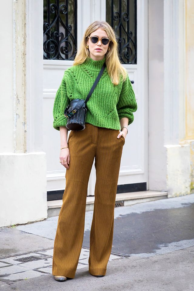 Annabel Rosendahl in green turtleneck