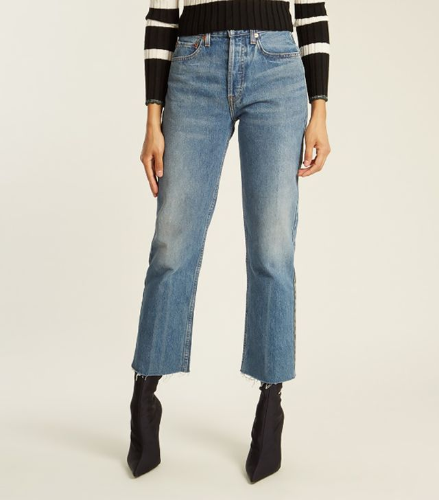 Rigid Stove Pipe high-rise jeans