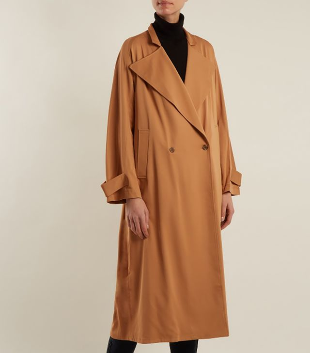 Rachel Comey Shameless Oversized Double-Breasted Trench Coat