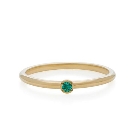 Micro Emerald Stacking Ring