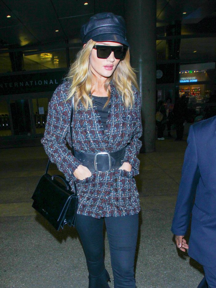 A Year of A-List Airport Style Looks Like This: Rosie Huntington-Whiteley
