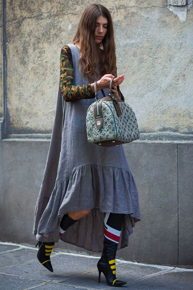 These multicolored motorbike boots are a cool-girl essential.