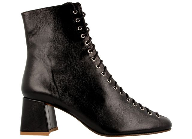 By Far Becca Black Leather Boot
