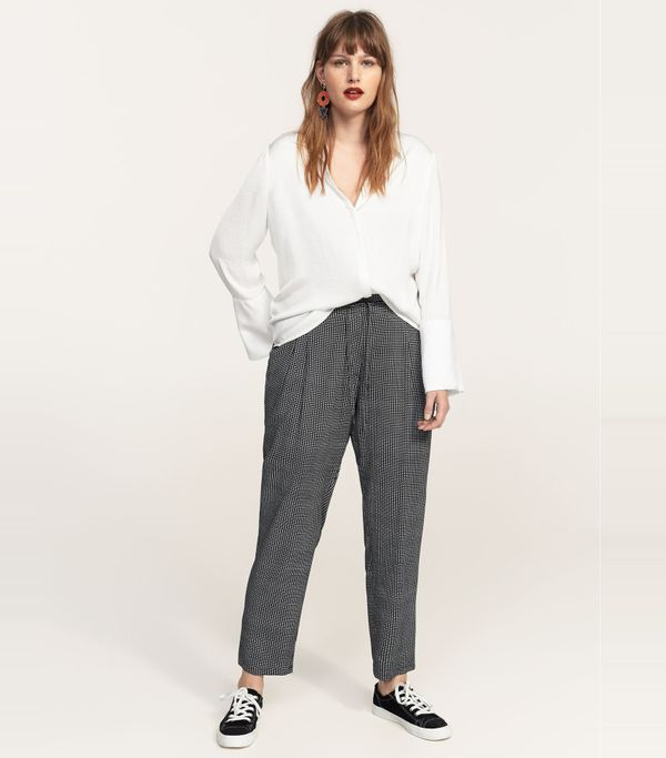 Printed baggy pants