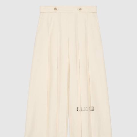 Pleated Wool Bermuda Pant