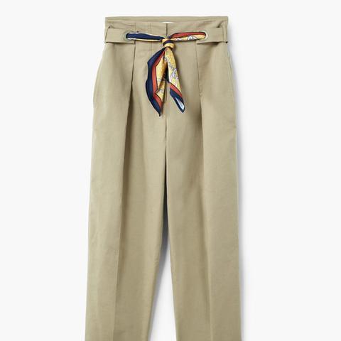 Scarf Belt Trousers