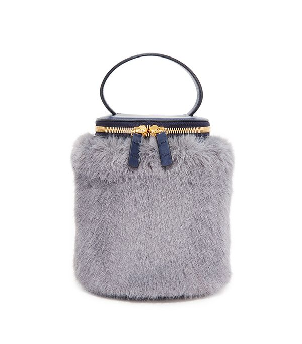 Detachable Faux Fur Cylinder Bag