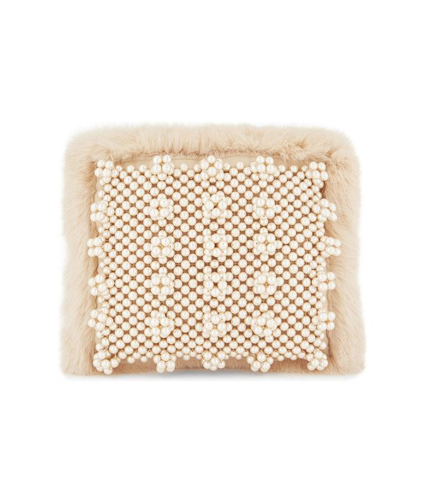 Graham faux-fur clutch bag