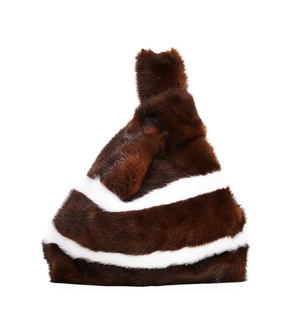 Furrissima Striped Mink Fur Bag