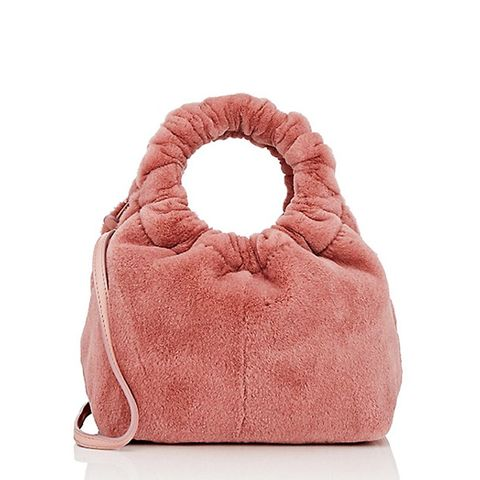 Double-Circle Fur Small Bag