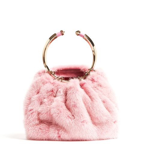 Bebop Fur Ring Clutch
