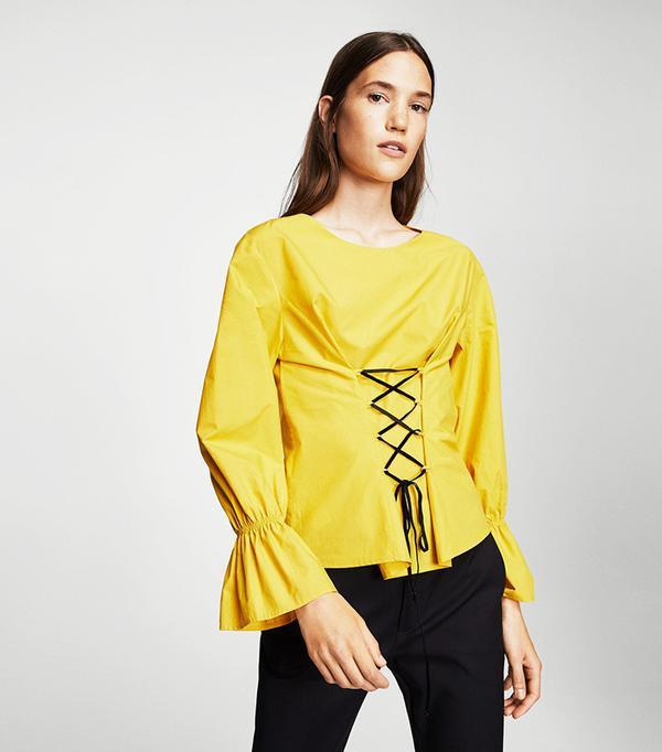 Corset cotton blouse