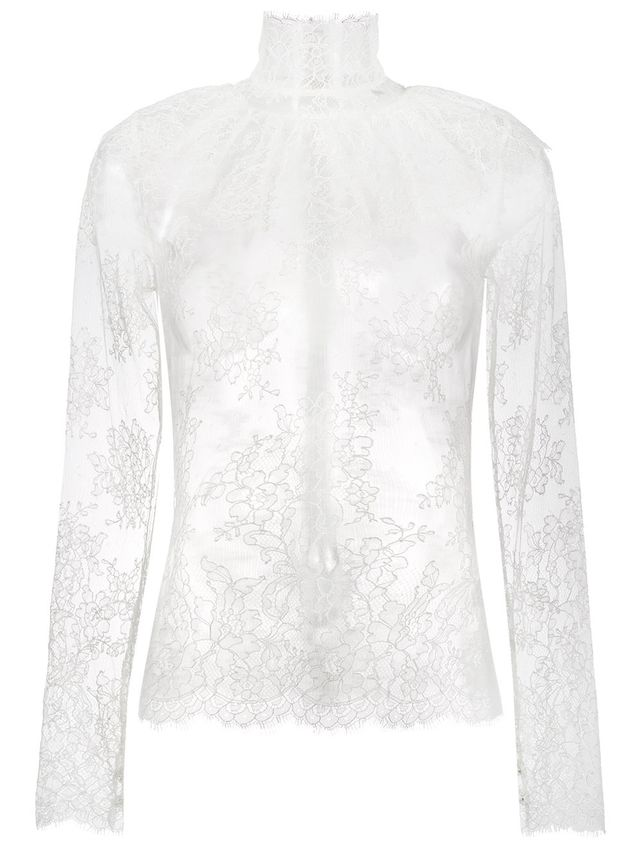 lady jane sheer lace blouse