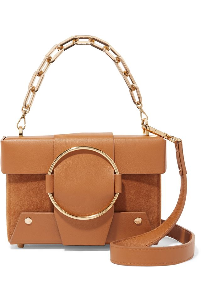 Asher Small Leather And Suede Shoulder Bag