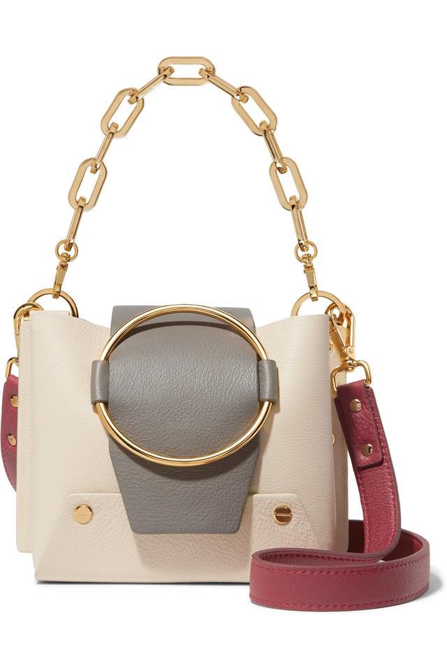 Delila Mini Color-block Leather Shoulder Bag