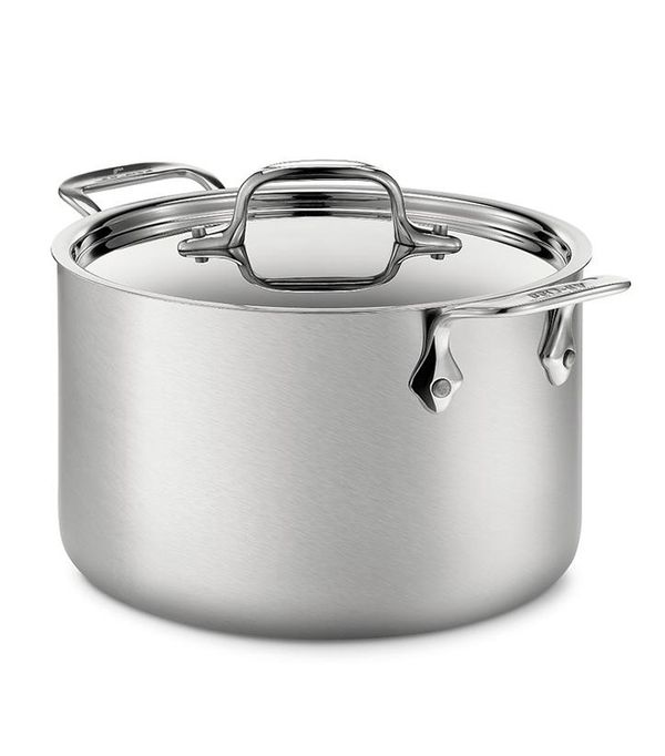 All Clad d5 Stainless Brushed Steel 4 Quart Soup Pot with Lid