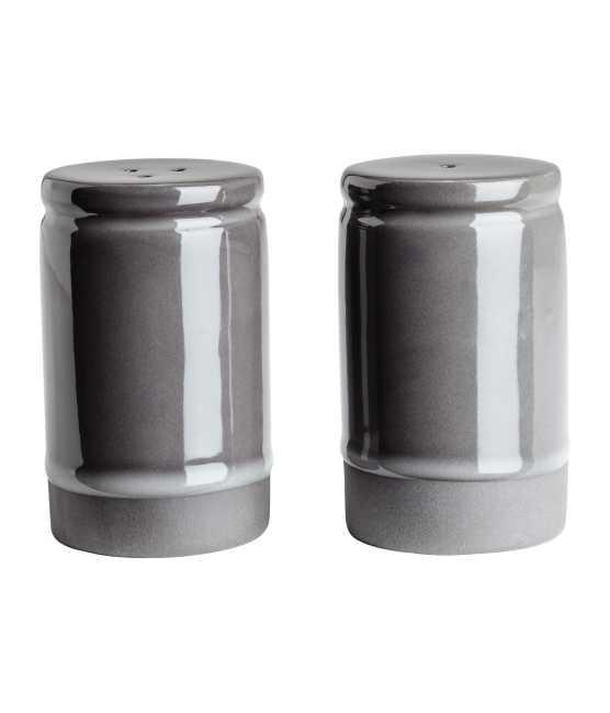 Stoneware Salt and Pepper Set