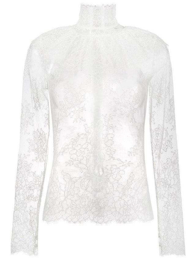 lady jane sheer lace blouse