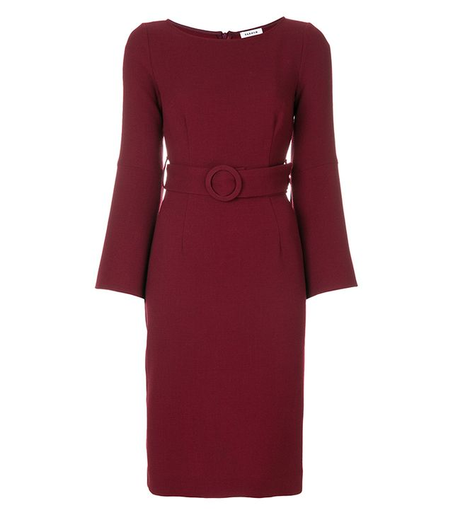 P.A.R.O.S.H. Belted Fitted Dress
