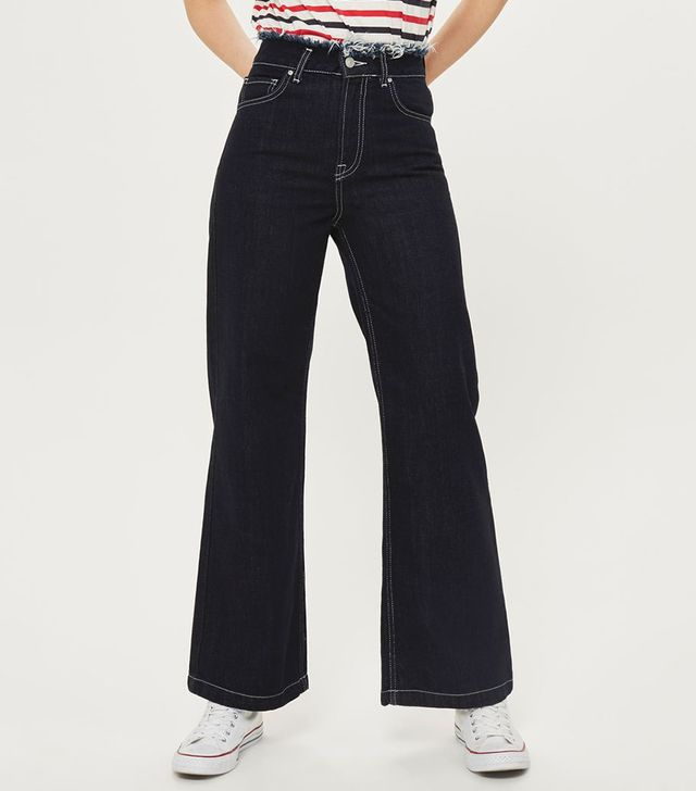 Topshop Moto Full Length Wide Leg Jeans