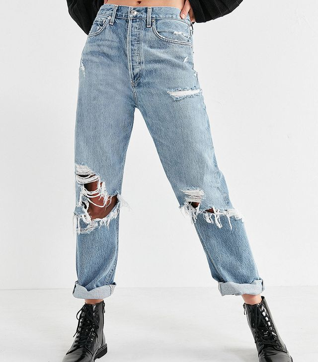 Agolde 90s Mid-Rise Ripped Jean