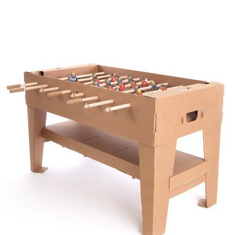 Cardboard Table Football Natural