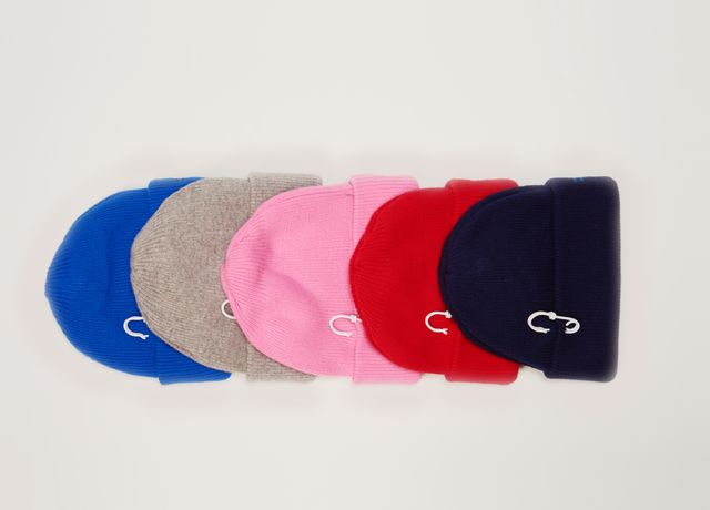 Cashmere Wool Beanie with Pin Detail