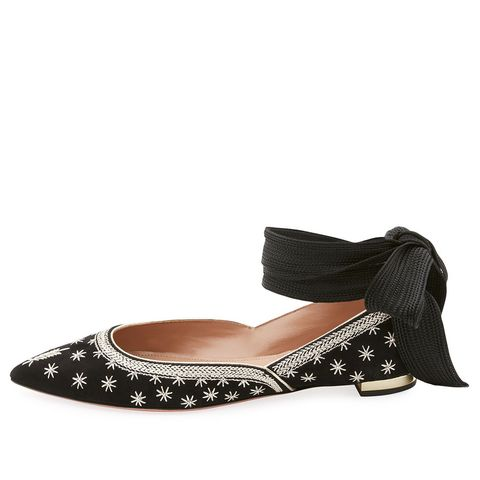 Bliss Ankle-Wrap Ballerina Flats