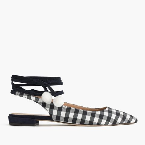 Lily Ankle-Wrap Flats