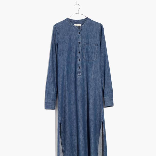 Denim Midi Popover Shirtdress