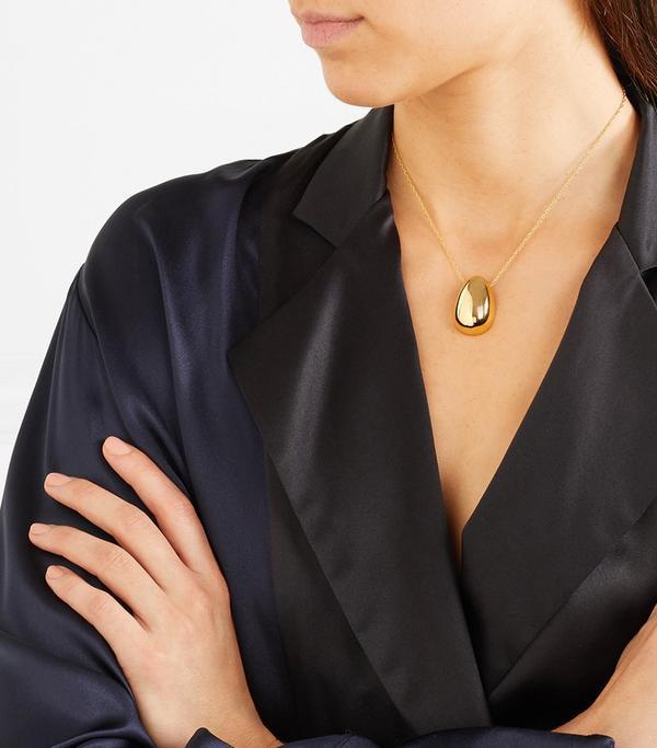 Sophie Buhai Egg Gold Vermeil Necklace