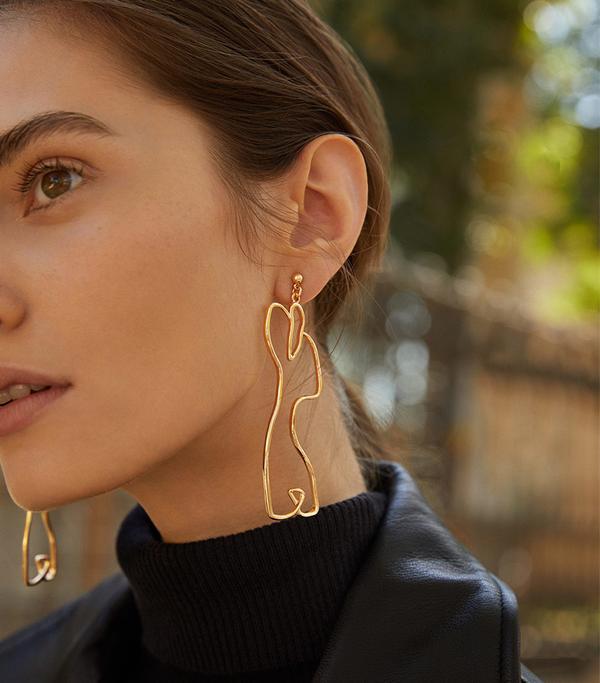 Mango Silhouette Earrings