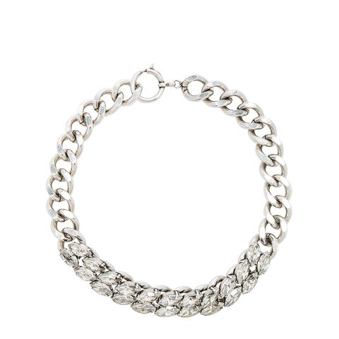 Crystal Embellished Chain Choker