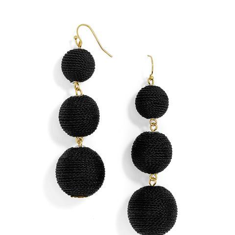 Vivid Crispin Ball Drop Earrings in Black
