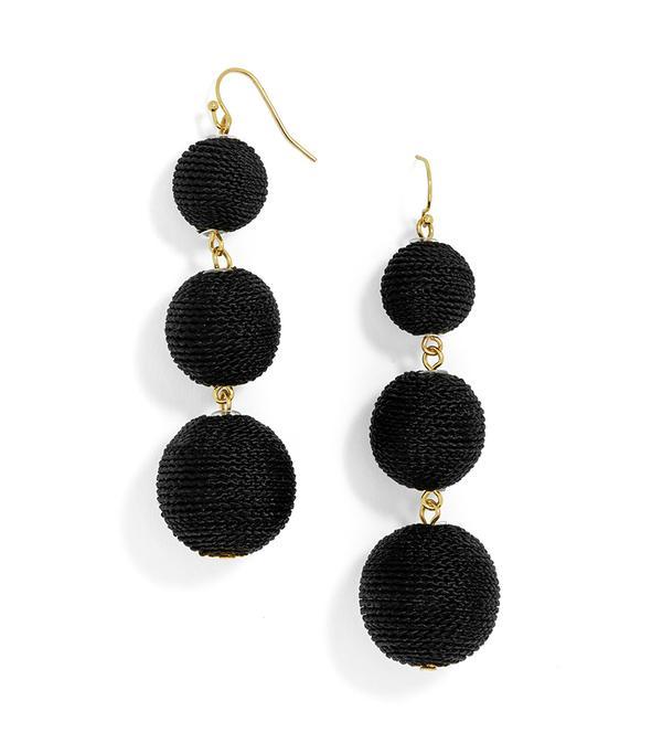 BaubleBar Vivid Crispin Ball Drop Earrings in Black