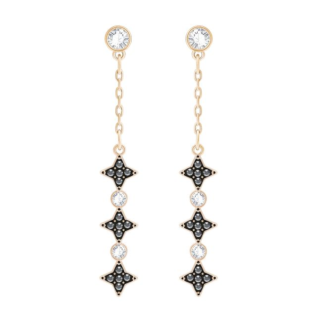 Swarovski Halve Pierced Earrings