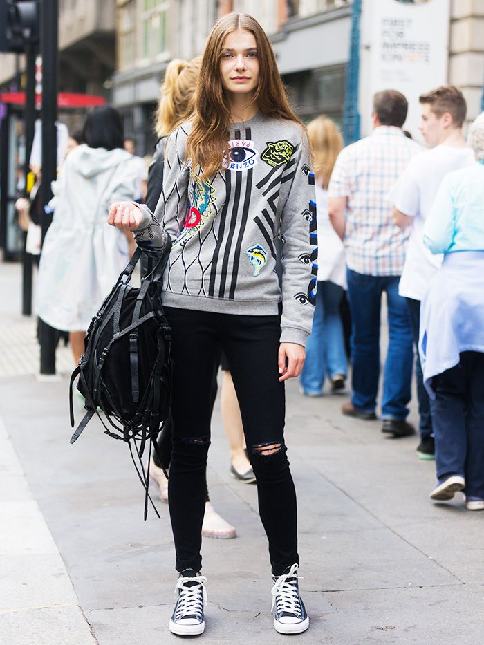 jeans converse style