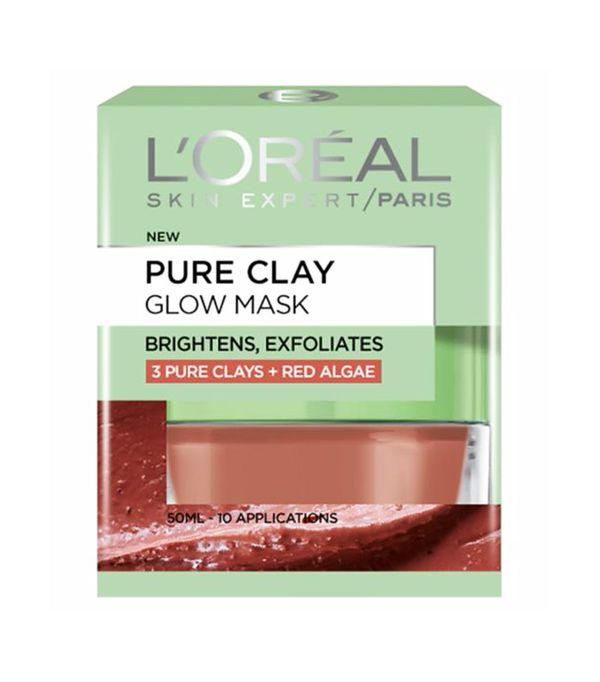 Best brightening face mask: L'Oreal Paris Pure Clay Glow Face Mask