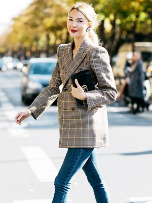 The Easiest Way to Dress Up Jeans This Winter