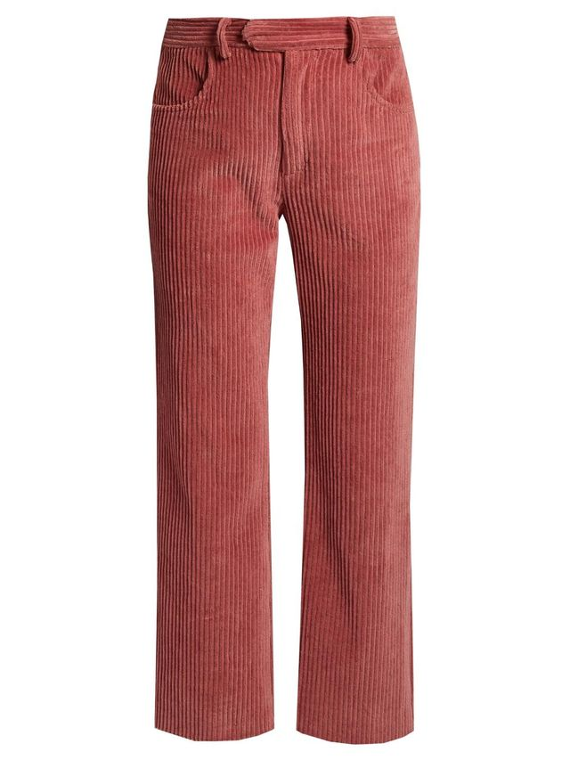 Reo straight-leg corduroy cropped trousers