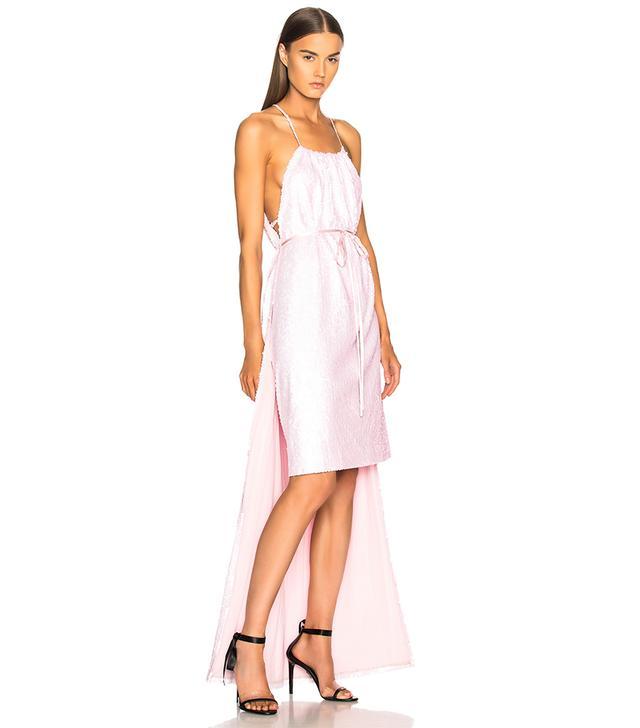 Calvin Klein Sequin Hi-Low Hem Dress