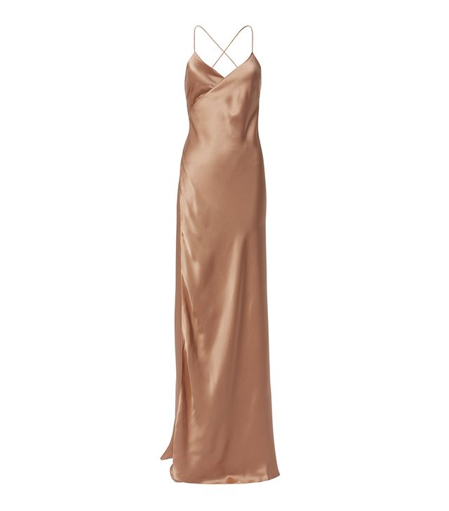 Michelle Mason Terracotta Wrap Gown Orange 4