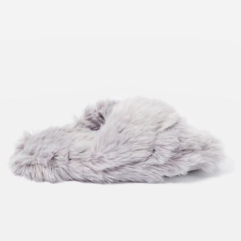 Dolly Faux Fur Cross Slippers