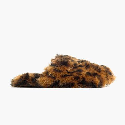 Leopard Fuzzy Slippers