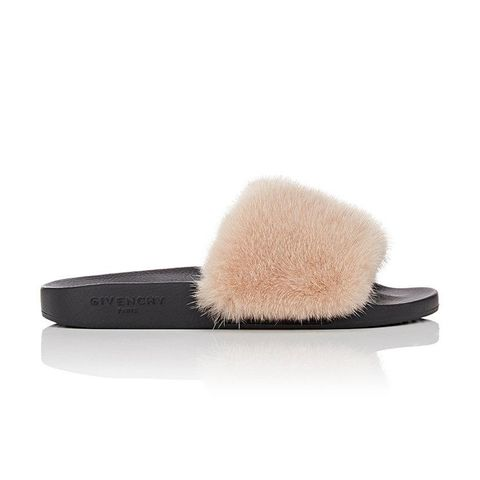 Fur Slide Sandals