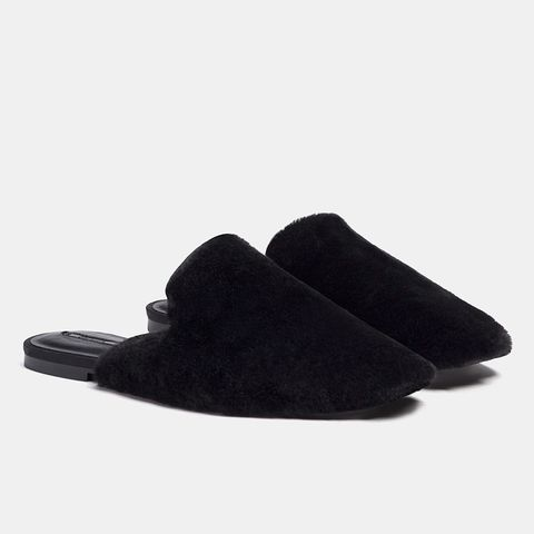 Slippers With Faux-Fur Detail