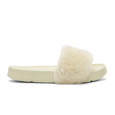 Ivory Fila Edition Shearling Drifter Shoe