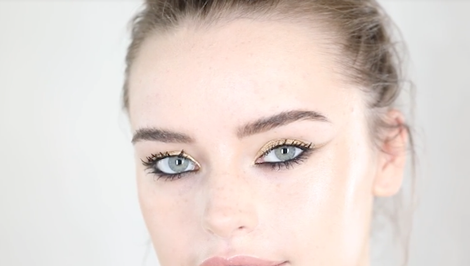 Sir John Shows Us How to Create a Party-Perfect Metallic Gold Cat Eye