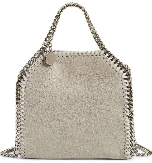 Stella Mccartney 'Tiny Falabella' Faux Leather Crossbody Bag - Grey